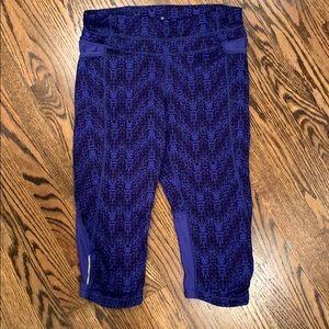 Athleta workout pant blue/black size small
